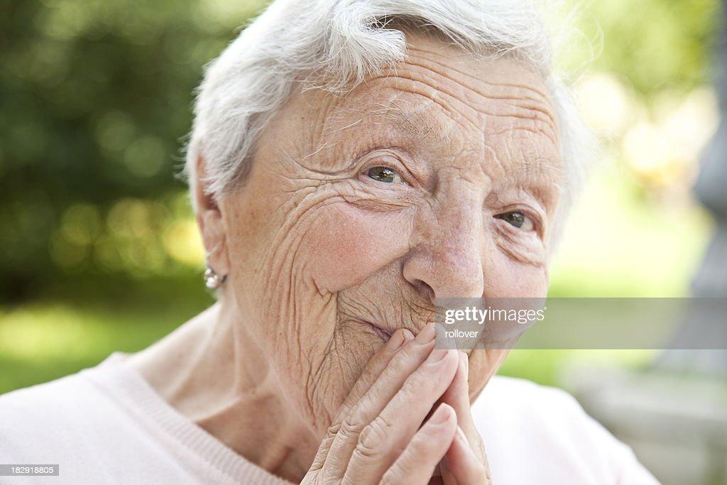 Joyful senior
