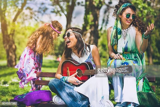 Joyful time with close friends