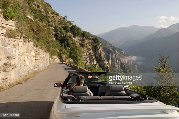 Joyride: driving an open convertible in the French Alps-Maritimes