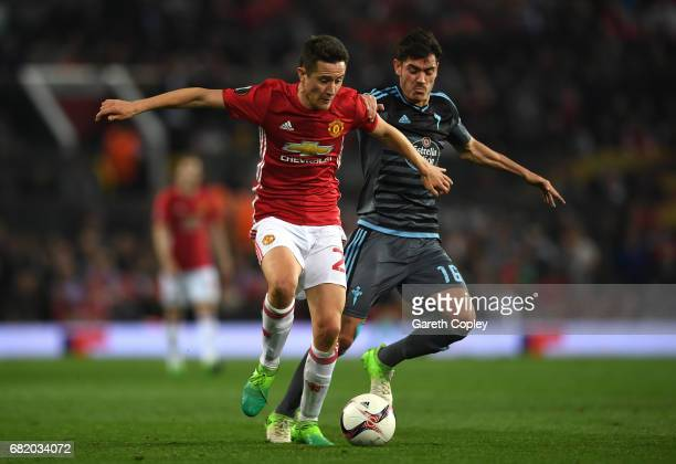 Jozabed of Celta Vigo and Ander Herrera of Manchester United in action during the UEFA Europa League semi final second leg match between Manchester...