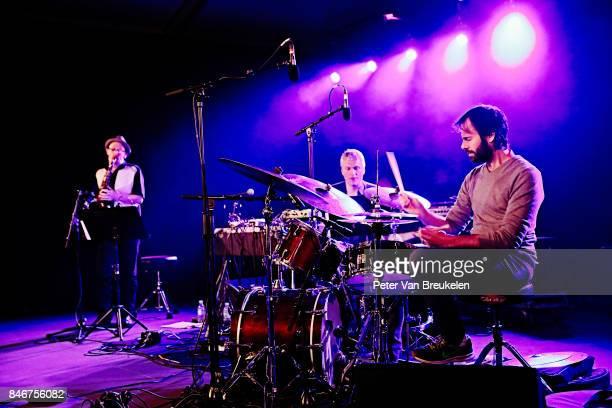 Jozef Dumoulin The Red Hill Orchestra Performs at Jazz Middelheim Festival on August 03 2017 in Antwerp Belgium