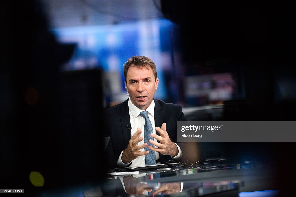 Jozsef Varadi, chief executive officer of Wizz Air Holdings Plc, gestures as he speaks during a Bloomberg Television interview in London, U.K., on Wednesday, May 25, 2016. Wizz Air is to open 3 bases this year and to expand its fleet to 100 aircraft by 2019. Photographer: Simon Dawson/Bloomberg via Getty Images