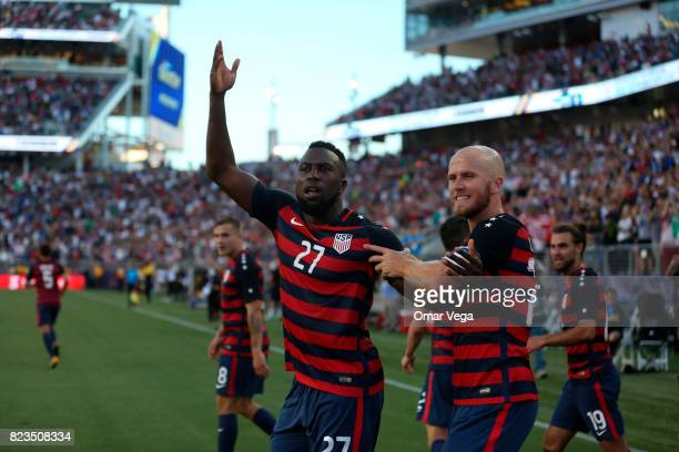 Jozy Altidore and Michael Bradley of United States celebrate after winning the CONCACAF Gold Cup 2017 final match between United States and Jamaica...