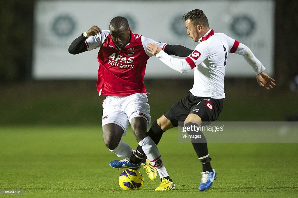 Jozy Altidore of AZ, Aykut Demir of Genclerbirligi SK during the friendly match between AZ Alkmaar and Genclerbirligi on January 12, 2013 at Belek, Turkey