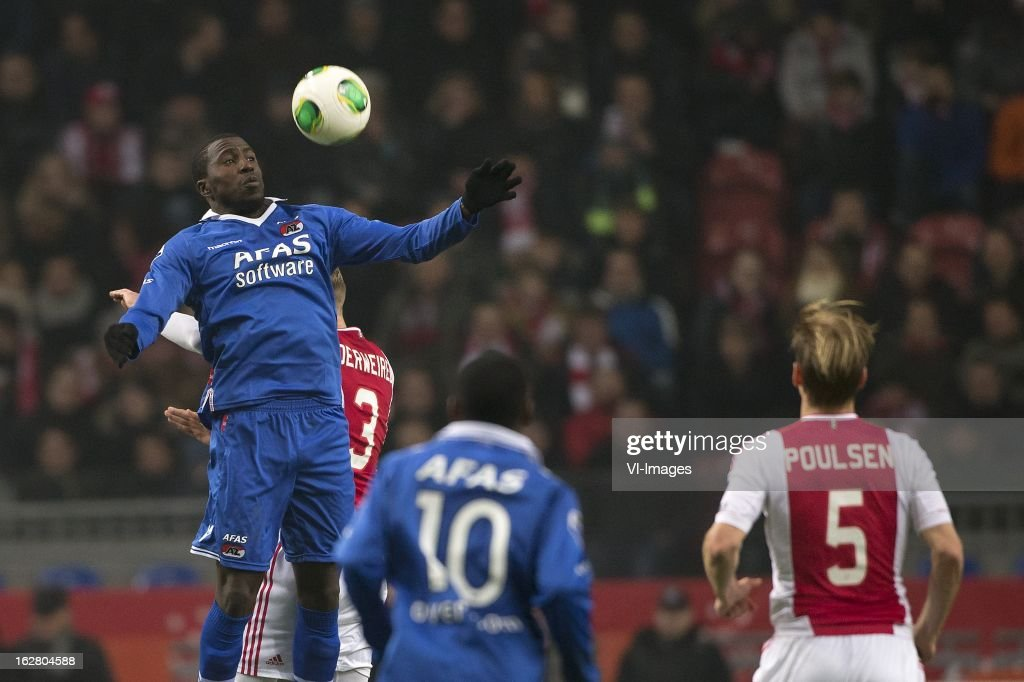 Jozy Altidore of AZ, Toby Alderweireld of Ajax during the Dutch Cup match between Ajax Amsterdam and AZ Alkmaar at the Amsterdam Arena on february 27, 2013 in Amsterdam, The Netherlands