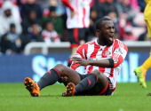 Jozy Altidore of Sunderland during the Barclays Premier League match between Sunderland and Crystal Palace at The Stadium of Light on March 15 2014...
