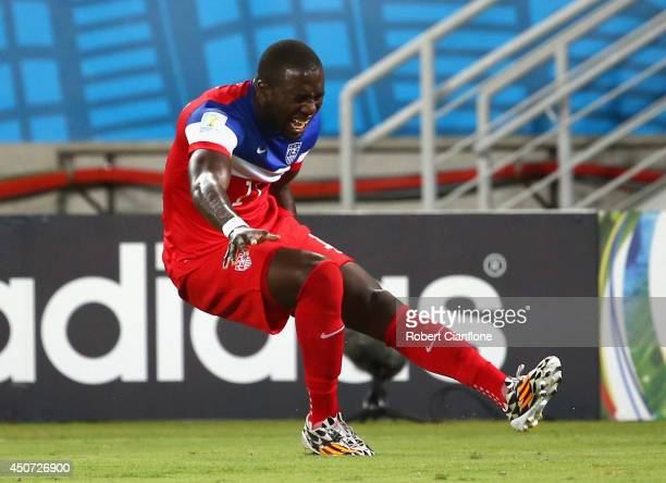 Jozy Altidore of the United States Jozy Altidore of the United States pulls up injured during the 2014 FIFA World Cup Brazil Group G match between...