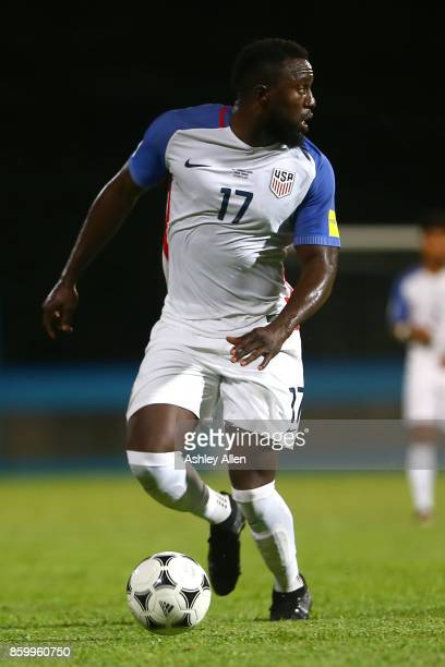 Jozy Altidore of the United States mens national team during the FIFA World Cup Qualifier match between Trinidad and Tobago at the Ato Boldon Stadium...