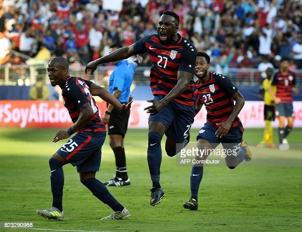 FBL-CONCACAF-GOLD CUP-FINAL-JAM-USA : News Photo