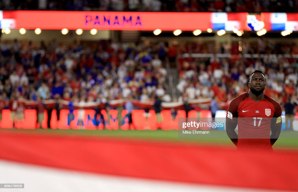 Jozy Altidore #17 of United States looks on during the 2018 FIFA World Cup Qualifying match at Orlando City Stadium on October 6, 2017 in Orlando, Florida.