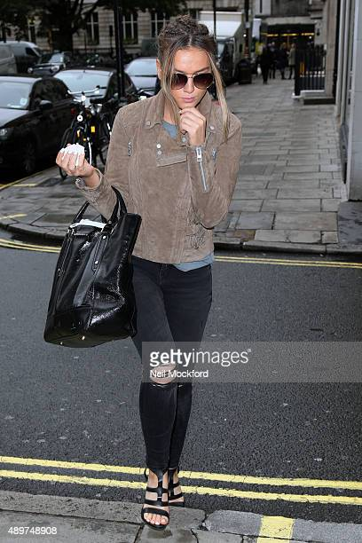 JPerrie Edwards of Little Mix is sighted at KISS FM on September 24 2015 in London England