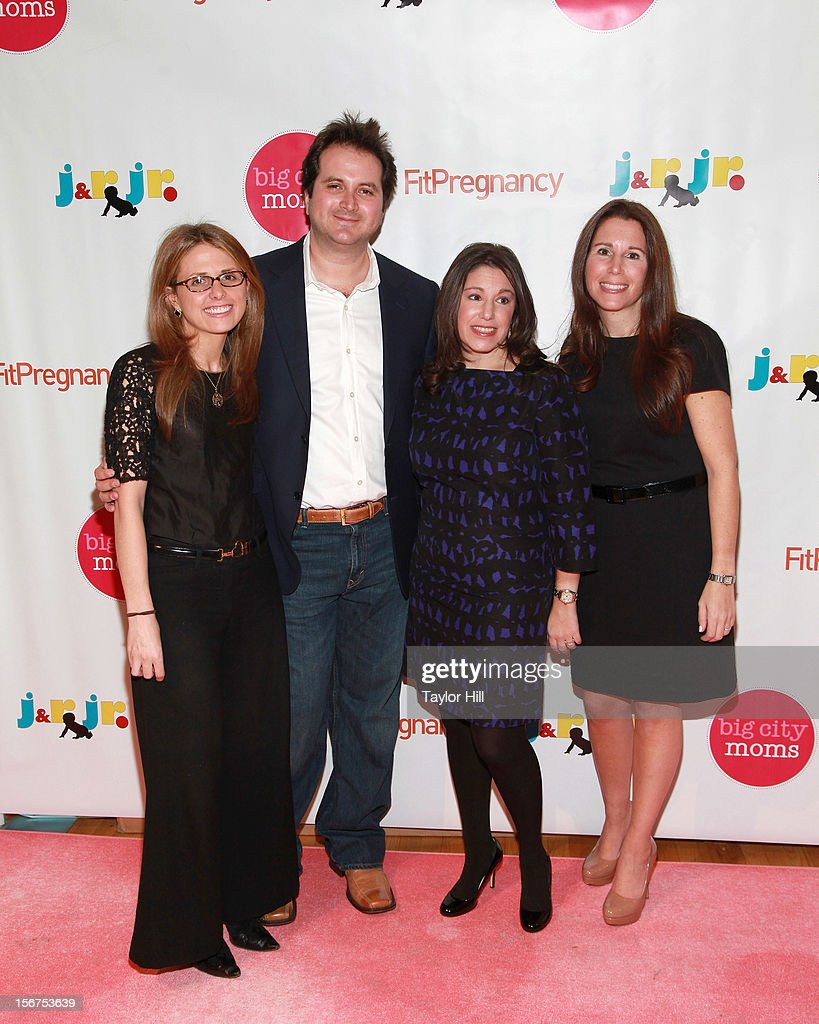 Jr co-founders Danielle Novetsky Friedman and Jason Friedman, and Big City Moms co-founders Leslie Venokur and Risa Goldberg attend the 14th Biggest Baby Shower Ever at the Metropolitan Pavilion on November 19, 2012 in New York City.