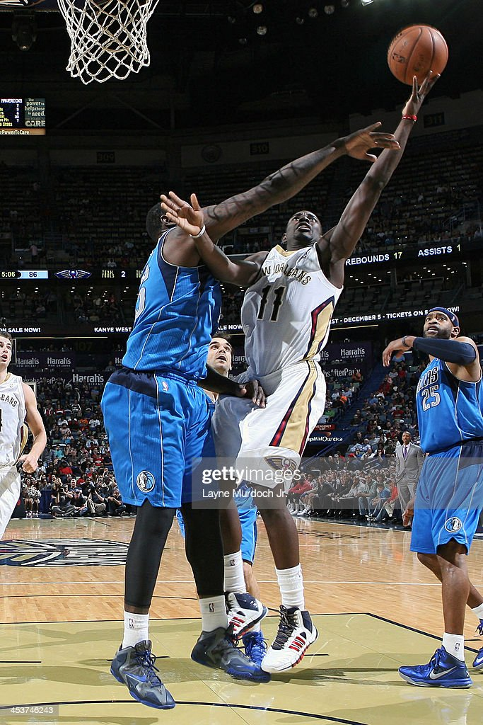<a gi-track='captionPersonalityLinkClicked' href=/galleries/search?phrase=Jrue+Holiday&family=editorial&specificpeople=5042484 ng-click='$event.stopPropagation()'>Jrue Holiday</a> #11 of the New Orleans Pelicans drives to the basket against the Dallas Mavericks on December 4, 2013 at the New Orleans Arena in New Orleans, Louisiana.