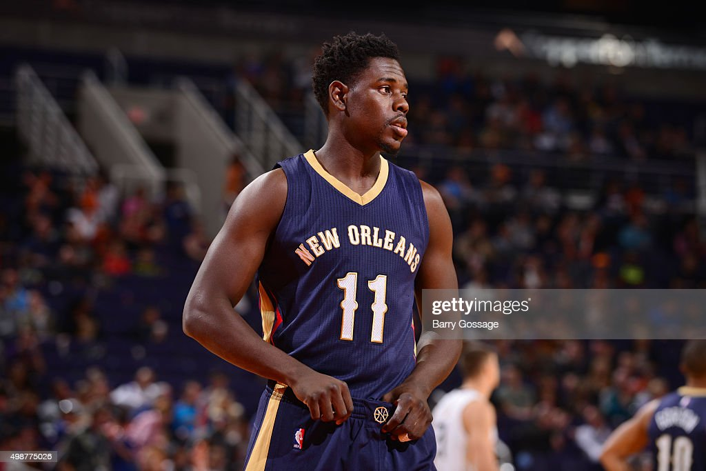 Jrue Holiday of the New Orleans Pelicans during the game against the Phoenix Suns on November 25 2015 at Talking Stick Resort Arena in Phoenix...
