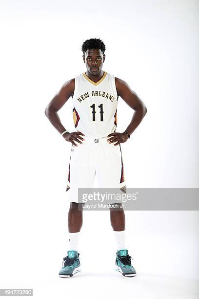 Jrue Holiday of the New Orleans Pelicans poses for a photo during NBA Media Day on October 14 2015 at the New Orleans Pelicans practice facility in...
