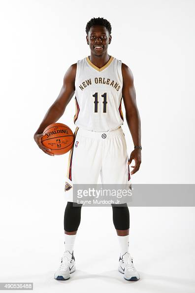 Jrue Holiday of the New Orleans Pelicans poses for photos during NBA Media Day on September 28 2015 at the New Orleans Pelicans practice facility in...