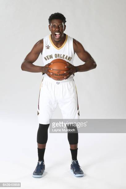 Jrue Holiday of the New Orleans Pelicans poses for portraits on February 22 2017 at the New Orleans Pelicans practice facility in Metairie Louisiana...