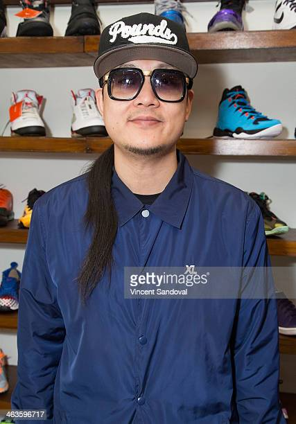 Splif of Far East Movement attends a meet and greet at Canvas LA on January 18 2014 in Los Angeles California