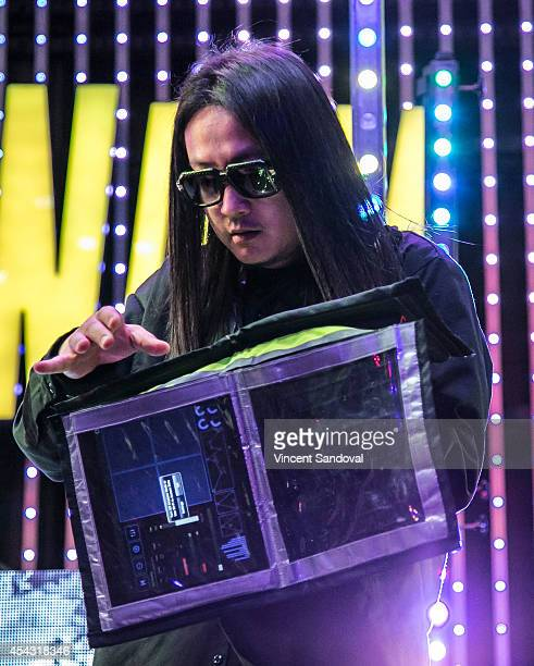 Splif of Far East Movement performs during Universal CityWalk's 'Music Spotlight Series' at 5 Towers Outdoor Concert Arena on August 28 2014 in...