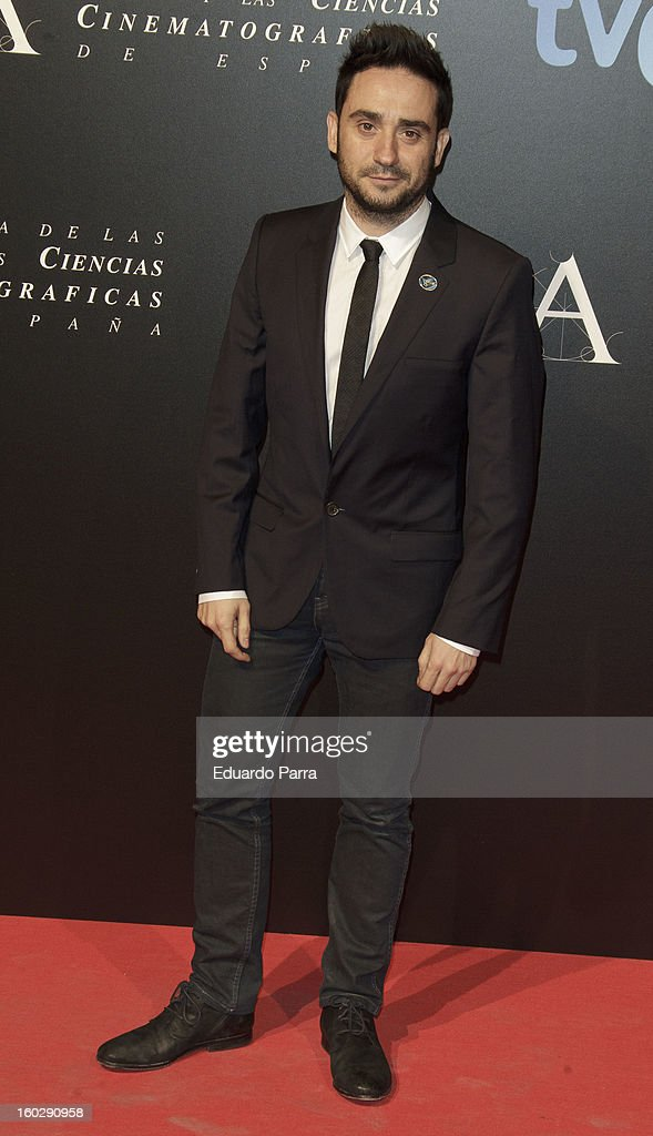 Juan Antonio Bayona attends Goya awards final candidates party photocall at El Canal theatre on January 28, 2013 in Madrid, Spain.