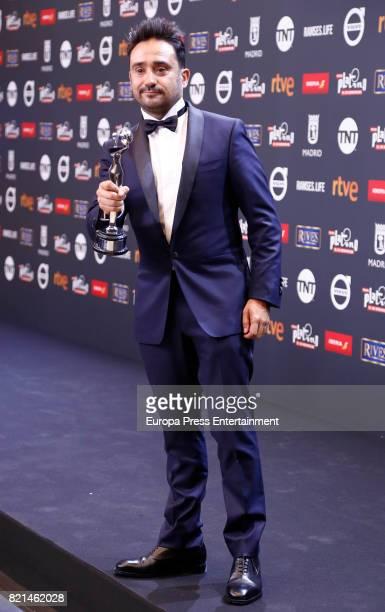 Juan Antonio Bayona is seen at Platino Awards winners press room at La Caja Magica on July 22 2017 in Madrid Spain