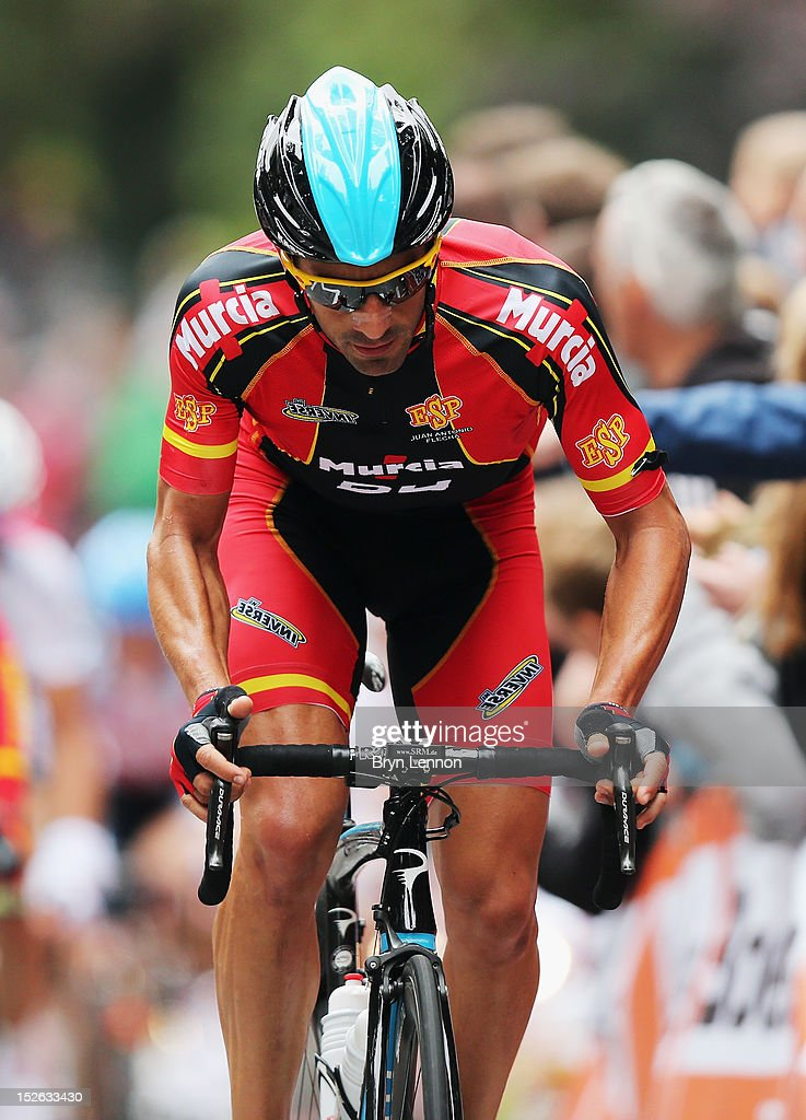 Juan Antonio Flecha of Spain climbs the Cauberg during the Men's Elite Road Race on day eight of the UCI Road World Championships on September 23, 2012 in Valkenburg, Netherlands.