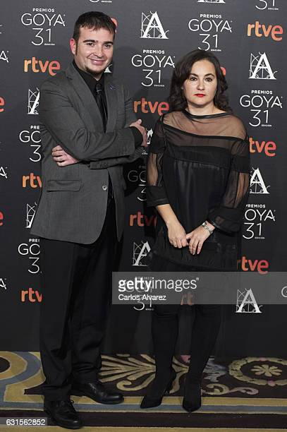 Juan Antonio Moreno and Silvia Venegas attend the Goya cinema awards candidates 2016 cocktail at the Ritz Hotel on January 12 2017 in Madrid Spain
