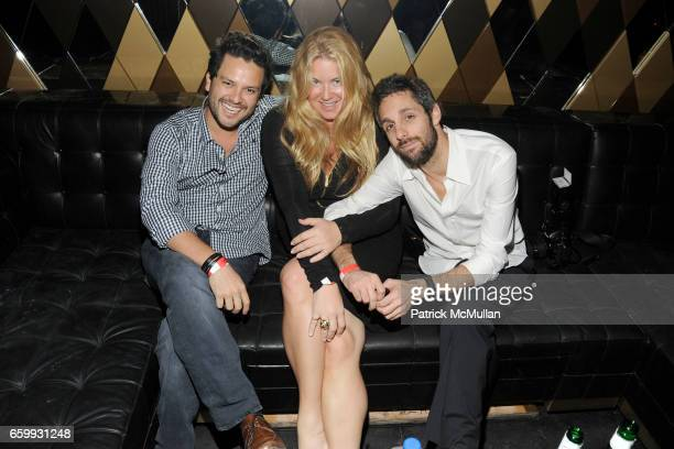 Juan Arevalo Lara Shriftman and Seth Browarnik attend Party at WALL Hosted by VITO SCHNABEL STAVROS NIARCHOS ALEX DELLAL at WALL at the W SOUTH BEACH...
