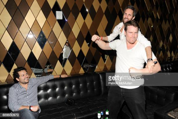 Juan Arevalo Seth Browarnik and Billy Farrell attend Party at WALL Hosted by VITO SCHNABEL STAVROS NIARCHOS ALEX DELLAL at WALL at the W SOUTH BEACH...