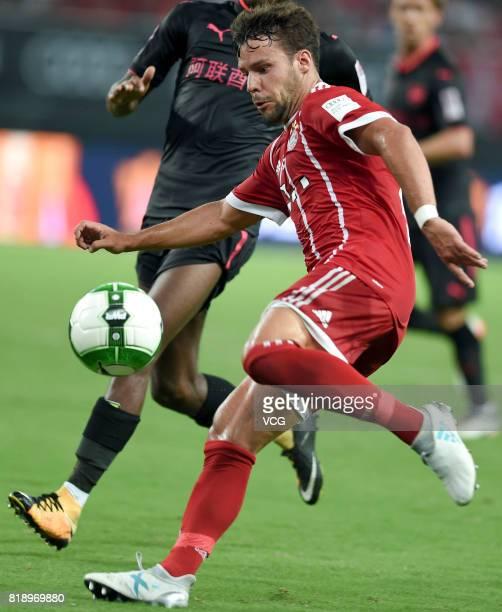 Juan Bernat of Bayern Muenchen drives the ball during 2017 International Champions Cup China between FC Bayern Munich and Arsenal FC at Shanghai...