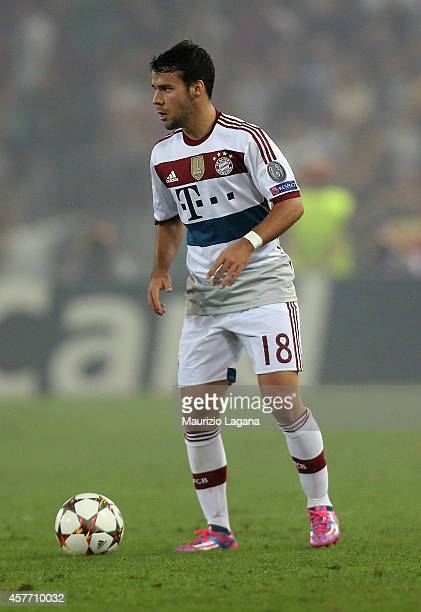 Juan Bernat of Bayern Muenchen during the UEFA Champions League match between AS Roma and FC Bayern Munchen at Stadio Olimpico on October 21 2014 in...