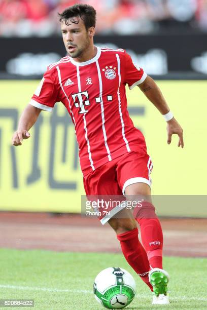Juan Bernat of FC Bayern Muenchen in action during the 2017 International Champions Cup football match between AC Milan and FC Bayern Muenchen on...