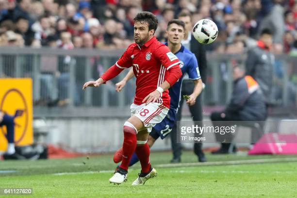 Juan Bernat of FC Bayern Muenchen in action during the Bundesliga match between Bayern Muenchen and FC Schalke 04 at Allianz Arena on February 4 2017...