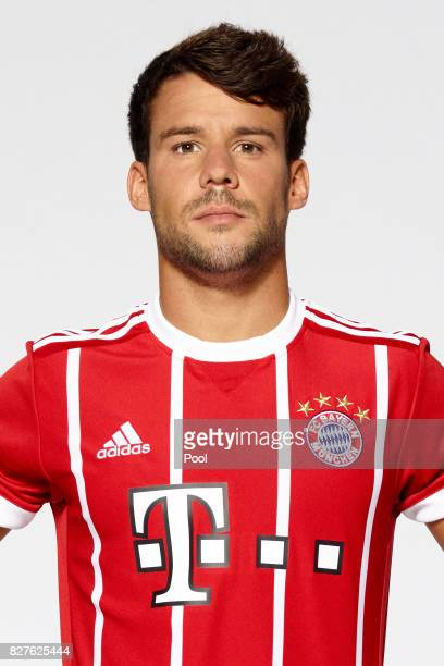 Juan Bernat of FC Bayern Muenchen poses during the team presentation at Allianz Arena on August 8 2017 in Munich Germany