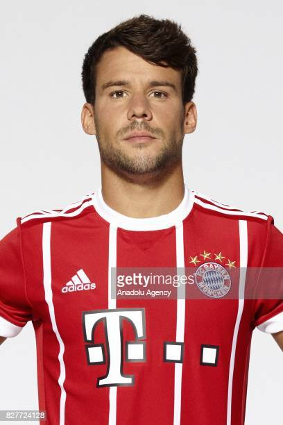 Juan Bernat of FC Bayern Munich poses during the team presentation at Allianz Arena on August 8 2017 in Munich Germany