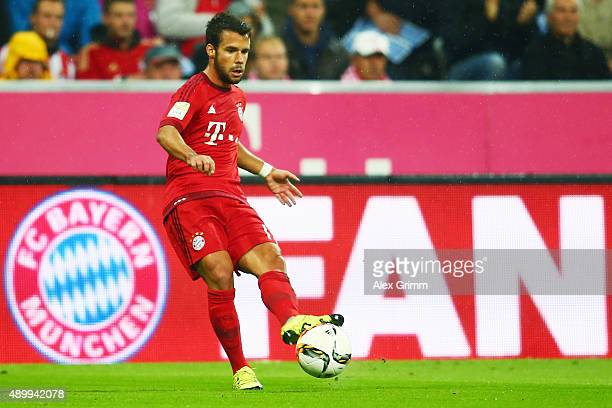 Juan Bernat of Muenchen controles the ball during the Bundesliga match between FC Bayern Muenchen and VfL Wolfsburg at Allianz Arena on September 22...