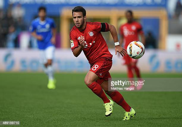 Juan Bernat of Muenchen controls the ball during the Bundesliga match between SV Darmstadt 98 and FC Bayern Muenchen at MerckStadion am...