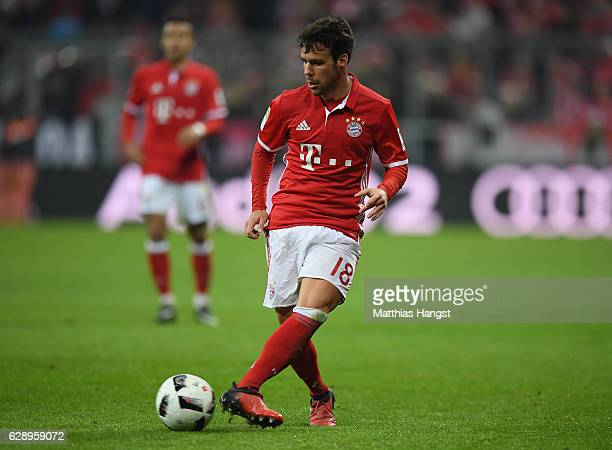Juan Bernat of Muenchen controls the ball during the Bundesliga match between Bayern Muenchen and VfL Wolfsburg at Allianz Arena on December 10 2016...