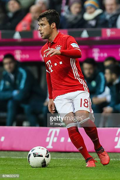 Juan Bernat of Muenchen in action during the Bundesliga match between Bayern Muenchen and VfL Wolfsburg at Allianz Arena on December 10 2016 in...