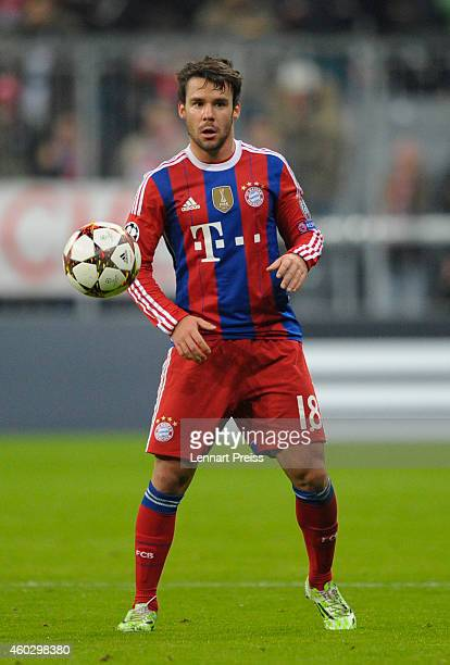 Juan Bernat of Muenchen in action during the UEFA Champions League Group E match between FC Bayern Muenchen and PFC CSKA Moskva at Allianz Arena on...