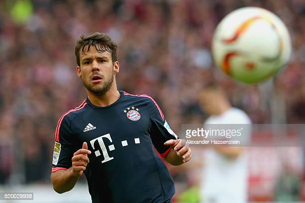 Juan Bernat of Muenchen runs with the ball during the Bundesliga match between VfB Stuttgart and FC Bayern Muenchen at MercedesBenz Arena on April 9...
