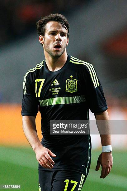 Juan Bernat of Spain in action during the international friendly match between the Netherlands and Spain held at Amsterdam Arena on March 31 2015 in...