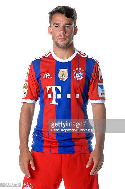 Juan Bernat poses during the FC Bayern Muenchen Team Presentation for DFL on August 9 2014 in Munich Germany