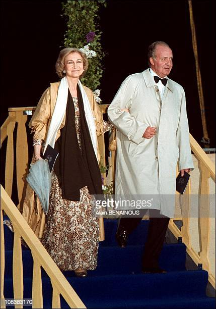 Juan Carlos and Sofia in Sweden on June 19 2001
