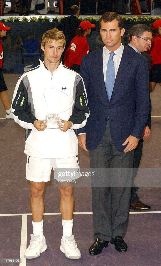 Felipe of Spain Presides the Final of Madrid Masters Series
