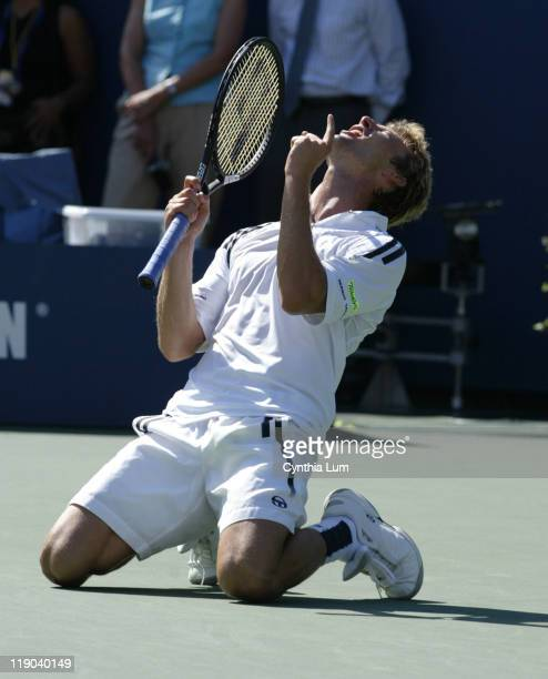 Open Men's Singles Semifinals Juan Carlos Ferrero vs Andre Agassi September 6 2003 Juan Carlos Ferrero into US Open final with four set victory over...