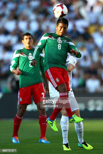 Juan Carlos Medina of Mexico in action during leg 2 of the FIFA World Cup Qualifier match between the New Zealand All Whites and Mexico at Westpac...