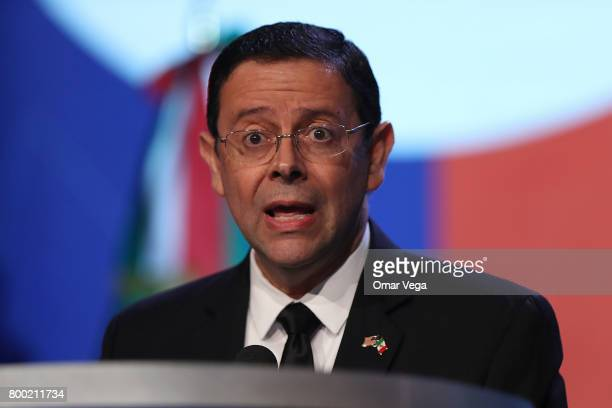 Juan Carlos Mendoza Sanchez Executive Director of the Institute for Mexicans Abroad speaks at the 34th annual NALEO conference in Dallas on June 23...