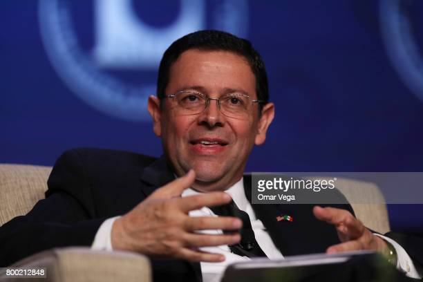 Juan Carlos Mendoza Sanchez Executive Director of the Institute for Mexicans Abroad IME speaks at the 34th annual NALEO conference in Dallas on June...