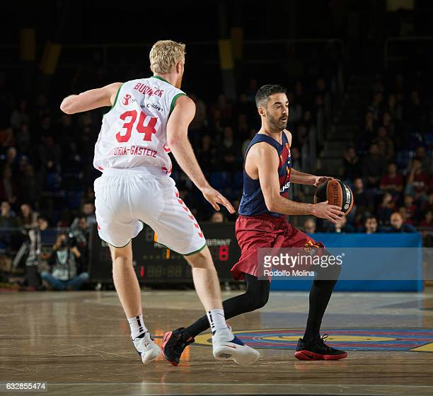Juan Carlos Navarro #11 of FC Barcelona Lassa in action during the 2016/2017 Turkish Airlines EuroLeague Regular Season Round 20 game between FC...